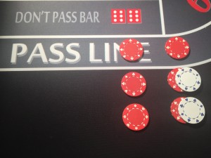 Pass Line Bet with Double Odds Paid